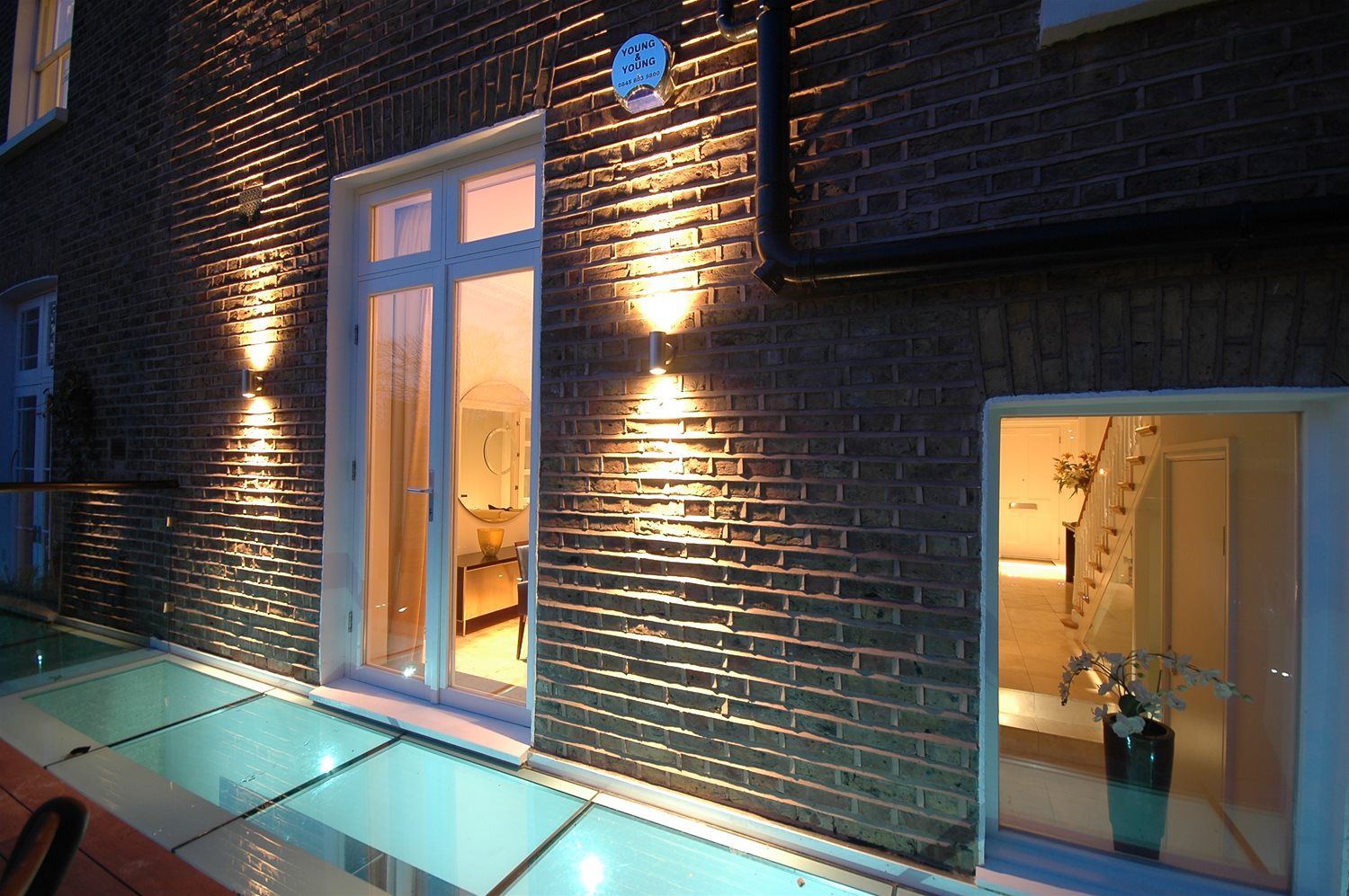 up down lights villa smooth double pillar up down light 240v marine 316 stainless steel 35w example