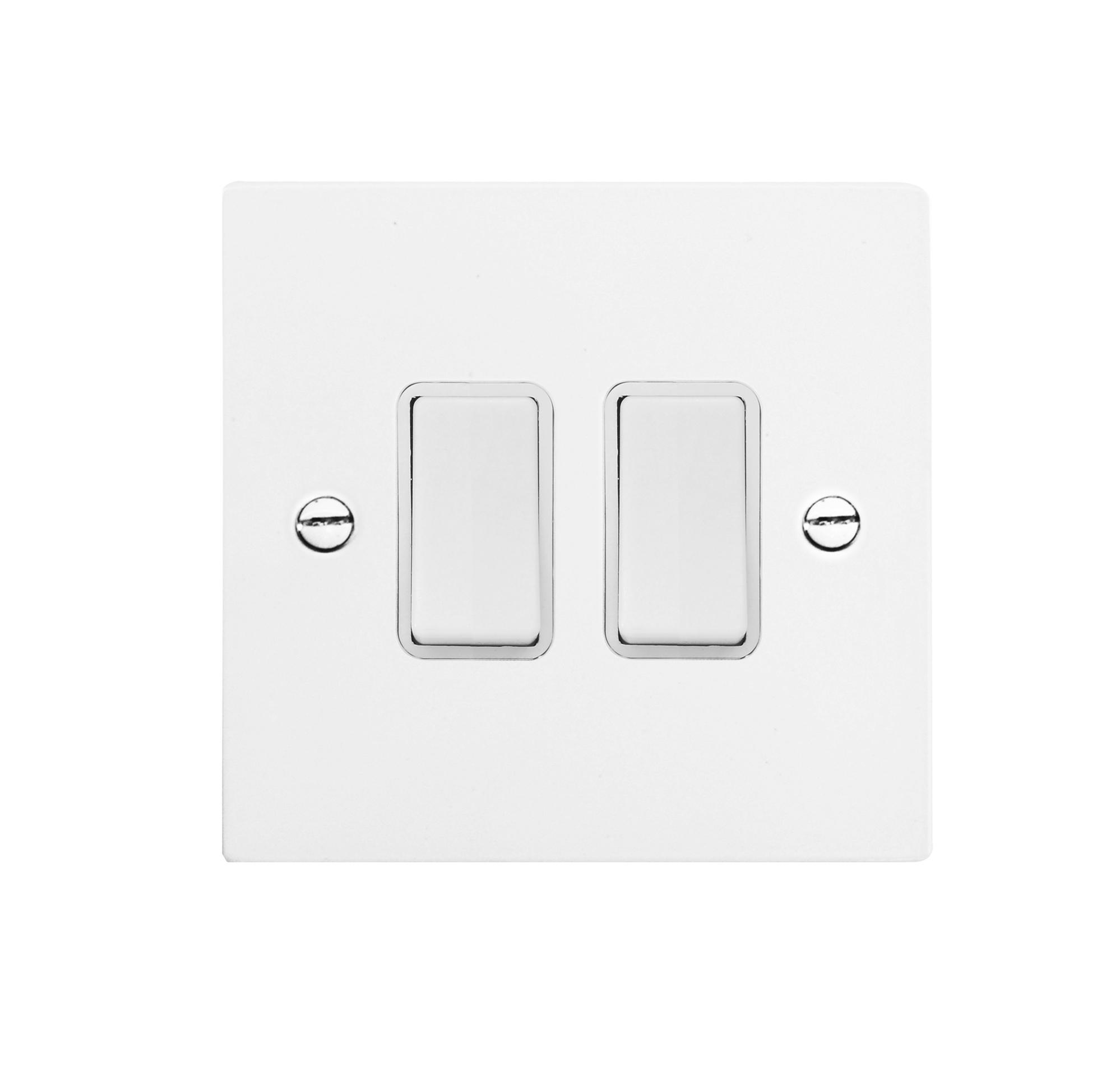 rocker white switch 2 gang rocker switch 20 amp 2 way satin white aluminium
