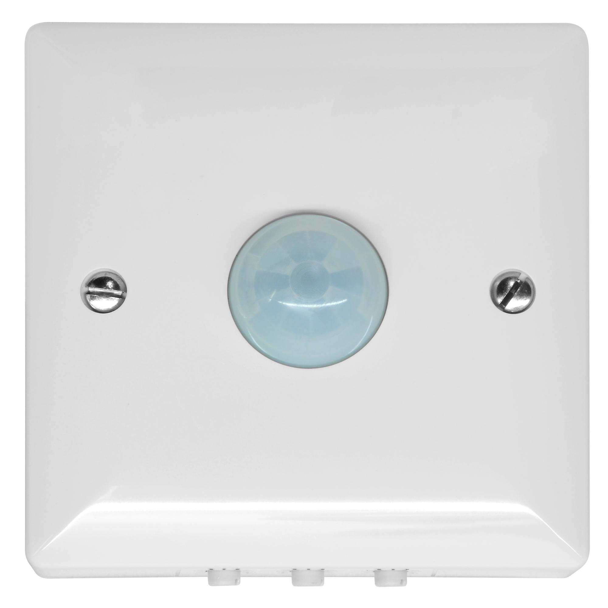 120 176 Pir Surface Mounted Occupancy Switch 1500w White