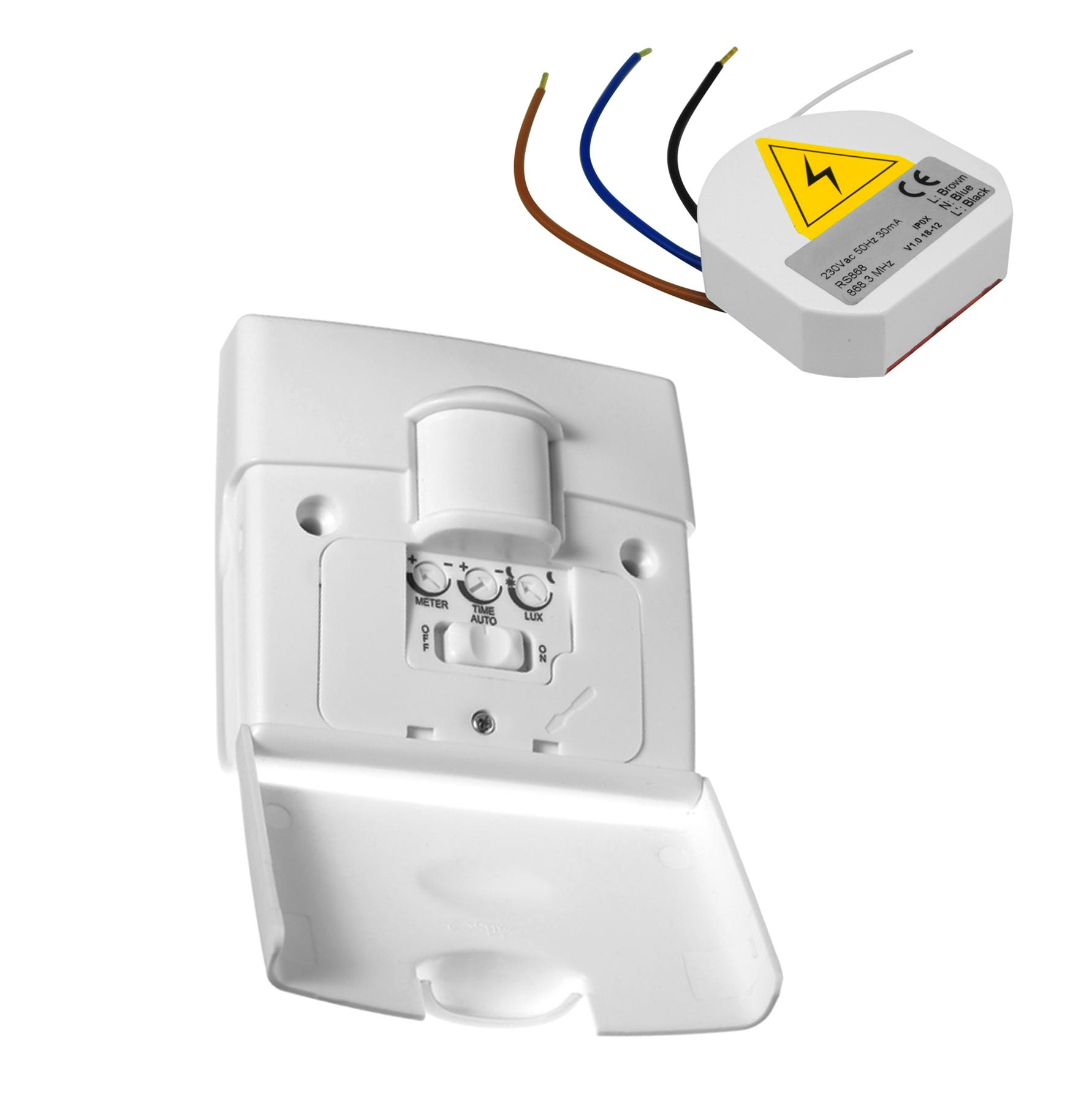 Wireless 180° Motion Sensor PIR Light Switch 240V 2 Channel ...