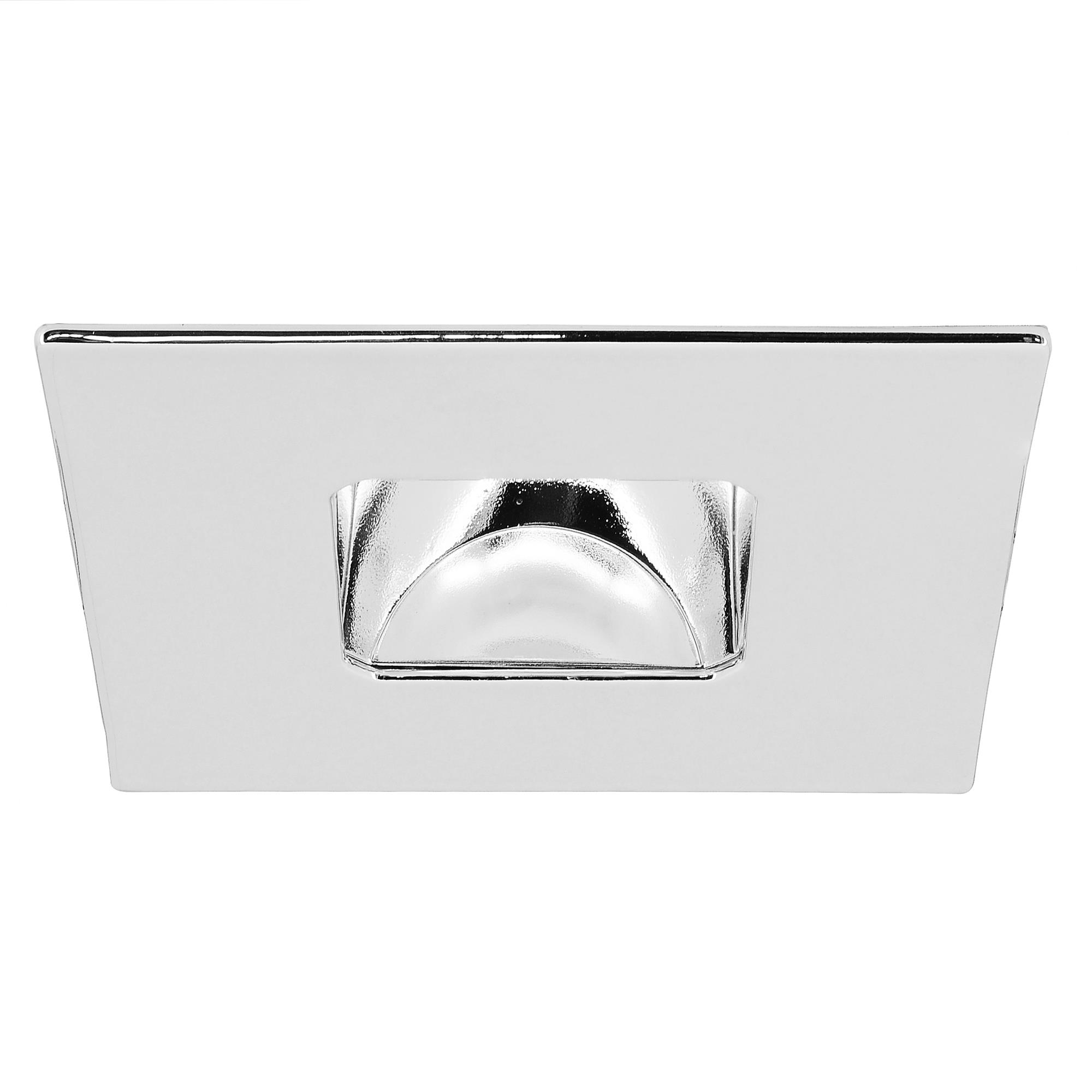 Blaze square fire rated fixed led downlight warm white 2700k 7w 75w chrome