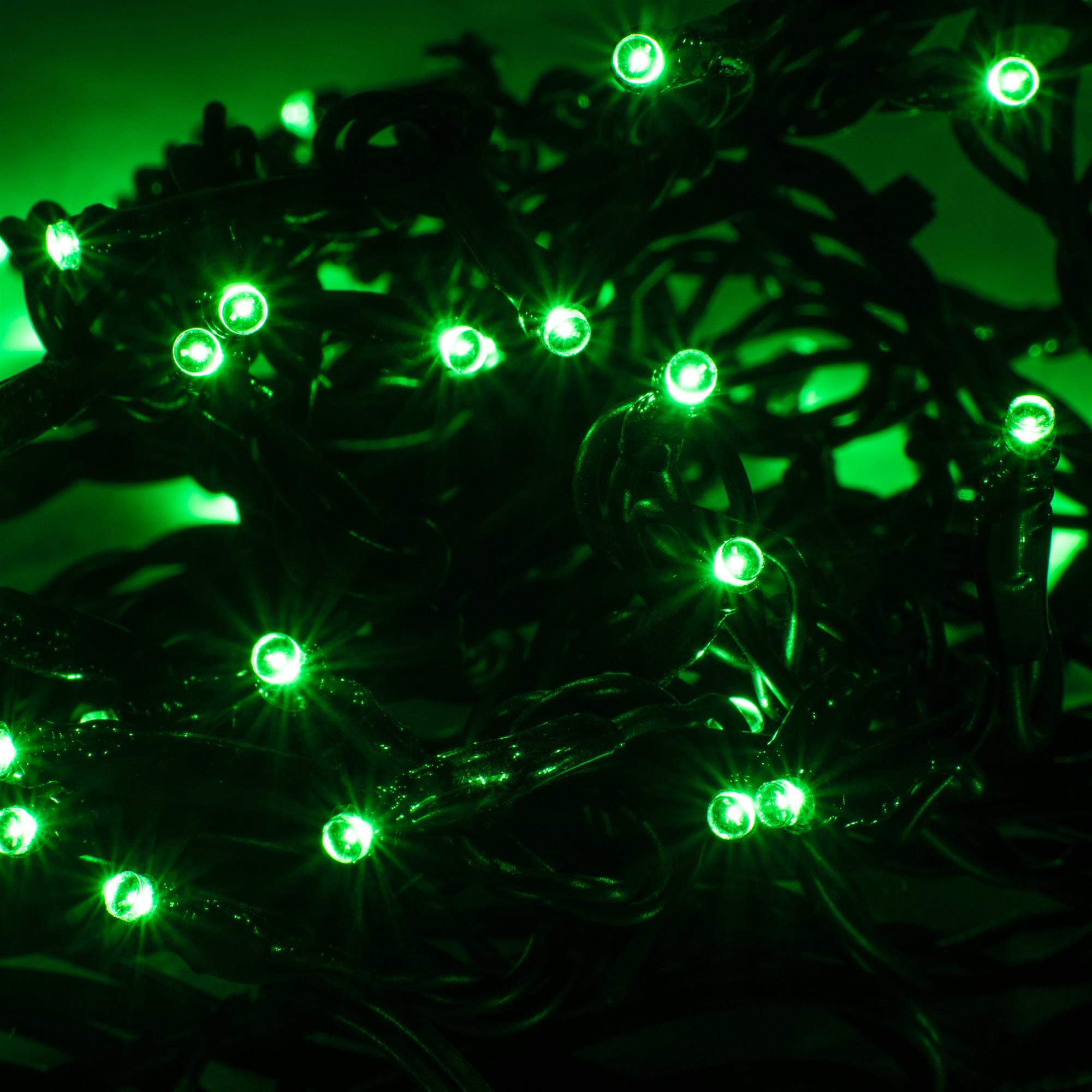 Led Miniature Christmas Lights 6m 60 Indoor Outdoor 24v Green Black Cable