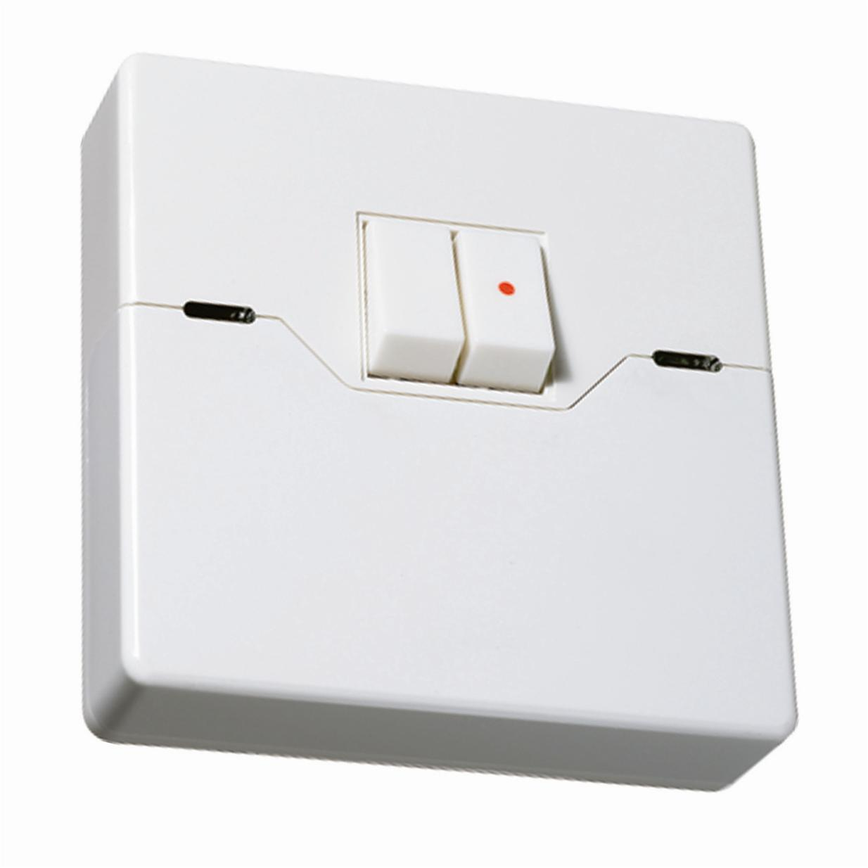 Programmable Security Light Switch 2 Gang White | Wireless Radio ...