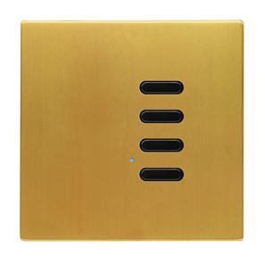Wise Switch 4 Channel Satin Brass 3V