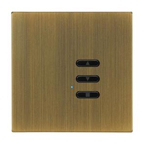 Wise Fusion Smart Dimmer Slave Wireless 1 Gang Antique Brass 3V