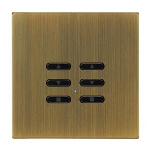 Wise Fusion Smart Dimmer Slave Wireless 2 Gang Antique Brass 3V