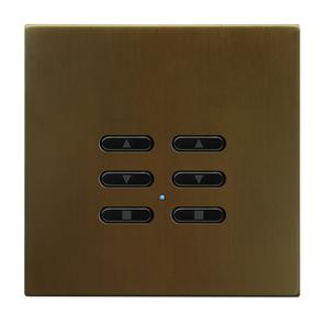 Wise Fusion Smart Dimmer Slave Wireless 2 Gang Antique Bronze 3V
