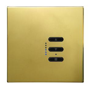 Wise Fusion 1-10V Smart Dimmer Master Wired 1 Gang 240V Polished Brass 450W