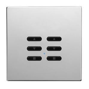 Wise Fusion Dimmer Slave Wireless 2 Gang Polished Stainless Steel 3V