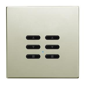 Wise Fusion Smart Dimmer Slave Wireless 2 Gang Polished Nickel 3V