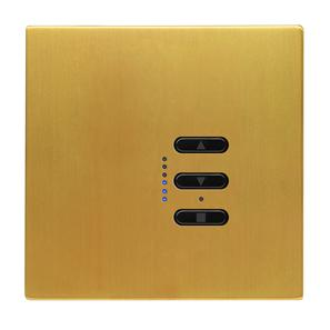 Wise Fusion 1-10V Dimmer Master Wired 1 Gang 240V Satin Brass 450W