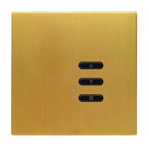 Wise Fusion Dimmer Slave Wireless 1 Gang Satin Brass 3V