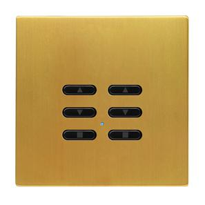 Wise Fusion Dimmer Slave Wireless 2 Gang Satin Brass 3V