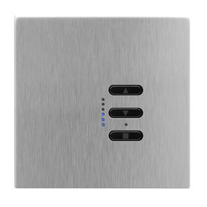 Wise Fusion 1-10V Dimmer Master Wired 1 Gang 240V Satin Stainless Steel 450W