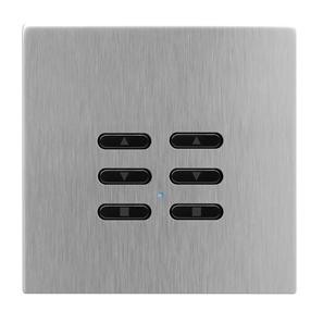Wise Fusion Smart Dimmer Slave Wireless 2 Gang Satin Stainless Steel 3V