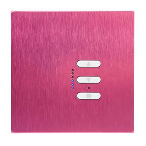 Wise Fusion 1-10V Smart Dimmer Master Wired 1 Gang 240V Pink Aluminium 450W