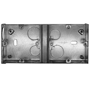 Dual Plate Back Box Metal 35mm