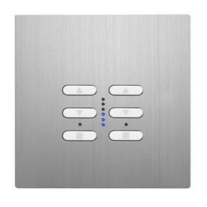 Wise Fusion Smart Dimmer Master Wired 2 Gang 240V Aluminium 2 x 250W