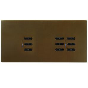 Wise Fusion Smart Dimmer Master Wired 3 Gang 240V Antique Bronze 1 x 450W, 2 x 250W