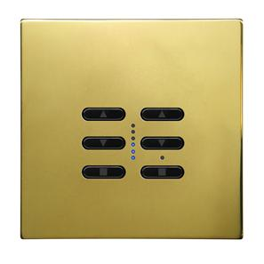 Wise Fusion Smart Dimmer Master Wired 2 Gang 240V Polished Brass 2 x 250W