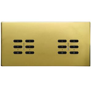 Wise Fusion Smart Dimmer Master Wired 4 Gang 240V Polished Brass 4 x 250W