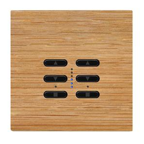 Wise Fusion Smart Dimmer Master Wired 2 Gang 240V Oak 2 x 250W