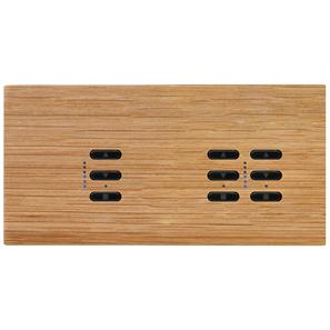 Wise Fusion Smart Dimmer Master Wired 3 Gang 240V Oak 1 x 450W, 2 x 250W