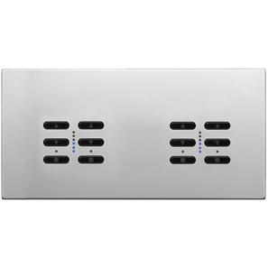 Wise Fusion Smart Dimmer Master Wired 4 Gang 240V Polished Stainless Steel 4 x 250W