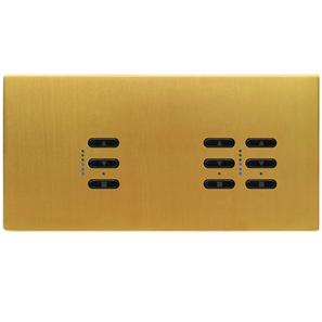 Wise Fusion Smart Dimmer Master Wired 3 Gang 240V Satin Brass 1 x 450W, 2 x 250W