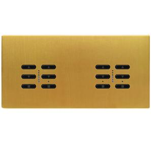 Wise Fusion Smart Dimmer Master Wired 4 Gang 240V Satin Brass 4 x 250W