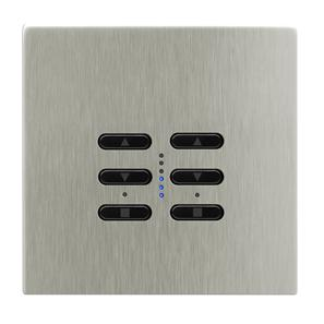 Wise Fusion Smart Dimmer Master Wired 2 Gang 240V Satin Nickel 2 x 250W