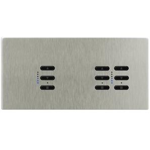 Wise Fusion Smart Dimmer Master Wired 3 Gang 240V Satin Nickel 1 x 450W, 2 x 250W