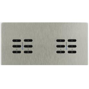 Wise Fusion Smart Dimmer Master Wired 4 Gang 240V Satin Nickel 4 x 250W