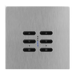 Wise Fusion Smart Dimmer Master Wired 2 Gang 240V Satin Stainless Steel 2 x 250W