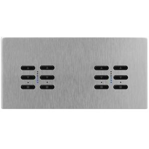 Wise Fusion Smart Dimmer Master Wired 4 Gang 240V Satin Stainless Steel 4 x 250W