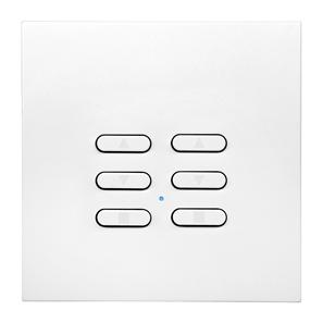 Wise Fusion Smart Dimmer Slave Wireless 2 Gang Satin White Aluminium 3V