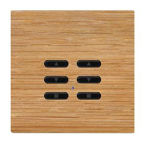 Wise Fusion Dimmer Slave Wireless 2 Gang Oak 3V