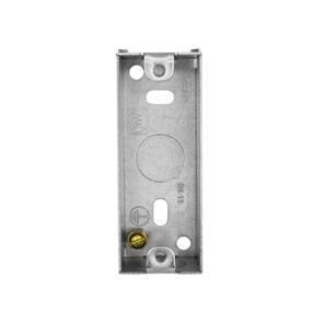 Single Plate Architrave Back Box Metal 25mm