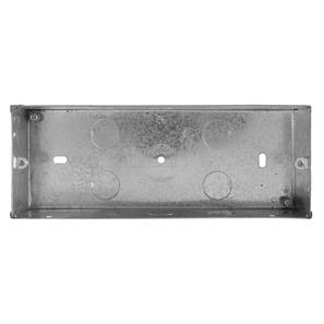 3 Gang Plate Back Box Metal 35mm