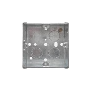 Single Plate Back Box Metal 25mm