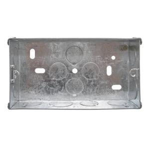 Double Plate Back Box Metal 25mm