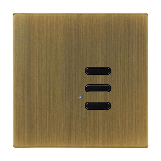 Wise Switch 3 Channel Antique Brass 3V