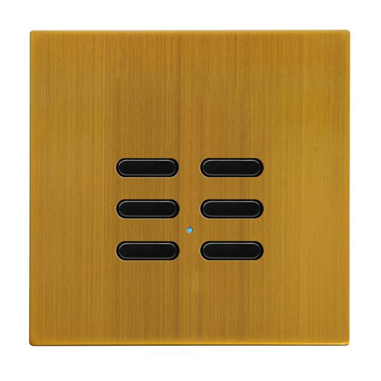 Wise Switch 6 Channel Antique Brass 3V