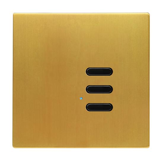 Wise Switch 3 Channel Satin Brass 3V