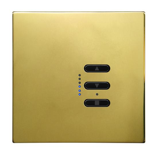 Wise Fusion 1-10V Dimmer Master Wired 1 Gang 240V Polished Brass 450W