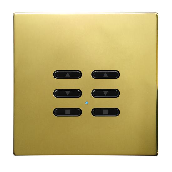 Wise Fusion Smart Dimmer Slave Wireless 2 Gang Polished Brass 3V