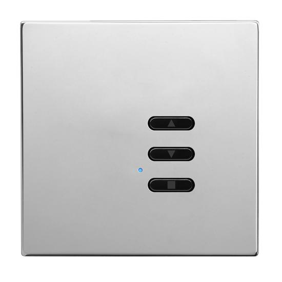 Wise Fusion Smart Dimmer Slave Wireless 1 Gang Polished Stainless Steel 3V