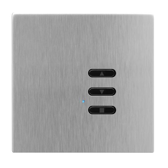 Wise Fusion Smart Dimmer Slave Wireless 1 Gang Satin Stainless Steel 3V