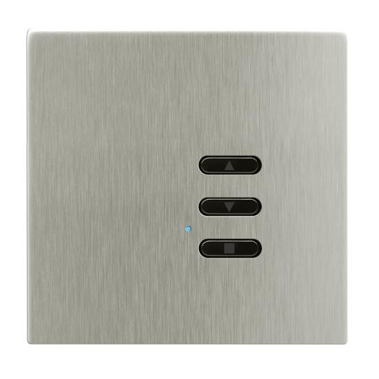 Wise Fusion Smart Dimmer Slave Wireless 1 Gang Satin Nickel 3V