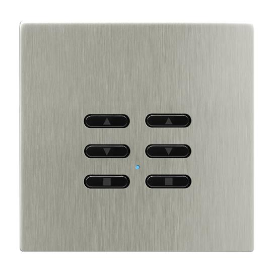 Wise Fusion Smart Dimmer Slave Wireless 2 Gang Satin Nickel 3V